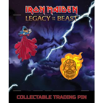 pripináčik Iron Maiden - Legacy of the Beast - Clairvoyant & Wicker Man, NNM, Iron Maiden