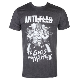 tričko pánske Anti Flag - No Gods, No Masters - Dark Heather - KINGS ROAD, KINGS ROAD, Anti-Flag