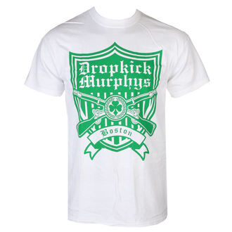 tričko pánske Dropkick Murphys - Gun Shield - White - KINGS ROAD, KINGS ROAD, Dropkick Murphys