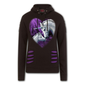 mikina dámska SPIRAL - SACRED LOVE - Purple / Black, SPIRAL