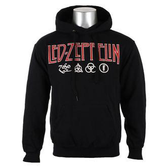 mikina pánska LED ZEPPELIN - LOGO & SYMBOLS - PLASTIC HEAD, PLASTIC HEAD, Led Zeppelin