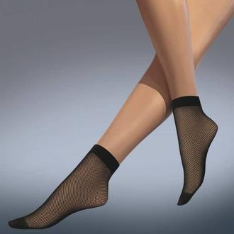 ponožky (pančuchové) LEGWEAR - fishnet ankle highs - black, LEGWEAR