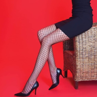 pančucháče LEGWEAR - Medium net - Black, LEGWEAR