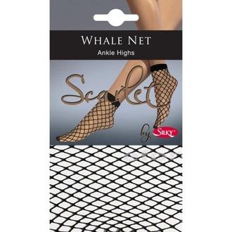 ponožky (pančuchové) LEGWEAR - whale net ankle highs - black - LE006